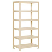 """Pucel - All Welded Steel Shelving - 30""""W x 24""""D Putty"""
