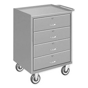 Mobile Drawer Bench - 4 Drawers Gray