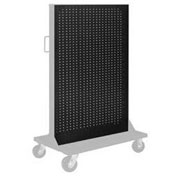 "Pucel Pegboard Panel 36"" x 61"" for Portable Bin Cart Black"