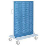 "Pucel Pegboard Panel 36"" x 61"" for Portable Bin Cart Blue"