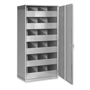 Steel Storage Bin Cabinet with Door - Gray