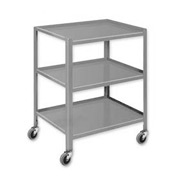"Pucel™ TU-2324-3 Mobile Table 3 Shelves 3"" Casters 24 x 23"