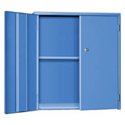 "Pucel Wall & Bench Cabinet WBC-3524 - 35-1/2""W x 9""D x  24""H, Blue"