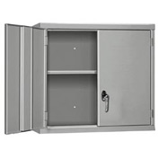 "Pucel Wall Cabinet WC-4827  - 48""W x 14""D x 27""H, Gray"
