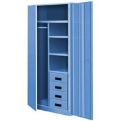 All Welded Combination Cabinet w/Drawers - Blue
