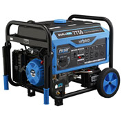 Pulsar PG7750B,7750 Watt Generator, Dual Fuel-Gas & LP Engine, Recoil/Electric Start, Battery Incl.