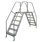 "P.W. Platforms 6 Step, 24""W x 35""D Steel Crossover Platform - CO6035G"