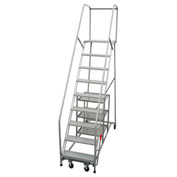 "P.W. Platforms 10 Step Steel Rolling Stock Picker Ladder, 24"" Step Width - SP10SH30W21"