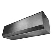 "Powered Aire® NSF-37 Certified Air Curtain, 36""W Door, 208V, 3/4HP, 3 PH, Stainless Steel"
