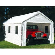 "Universal™ Enclosed Canopy With Windows 20'L x 10'8""'W - White"