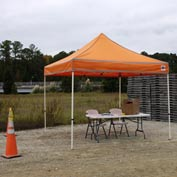 Festival™ Emergency Response Instant Canopy 10'L x 10'W - Bright Orange
