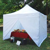 Tuff Tent™ Instant Canopy With Sides 10'L x 10'W - White
