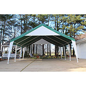 King Canopy™ ET2020G Event Tent 20'L x 20'W Green Top with White Leg Skirts