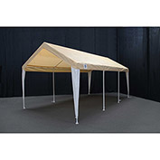 King Canopy™ HC1020PCTW Hercules 8 Leg Canopy 10'L x 20'W Tan with White Leg Skirts
