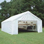 King Canopy Sidewall Kit With Flaps For 10'W x 27'D Hercules™ SWK1027WF-2, White