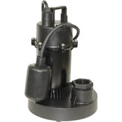 "Power-Flo 1/3HP Automatic Submersible Sump Pump 115V 1-1/2"" Discharge Teathered Float Switch 10'Cord"