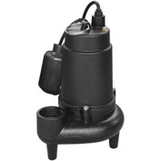 "Power-Flo 3/4HP Automatic Sewage Pump 230V 1 Phase 2"" Discharge Teathered Float Switch 10' Cord"