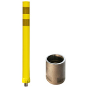 "City Post® 36"" Channelizer Post, Yellow w/ 3"" Yellow Reflective Tape, 8CP36YEL900"
