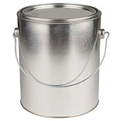 Qorpak MET-03099 1 Gallon Unlined Round Paint Can with Triple Tite Lid & Securing Clips, Case of 6