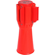 ConePro 500 Orange Traffic Cone Mount Retracting Belt Barrier, 10' Red Printer Danger Keep Out Belt