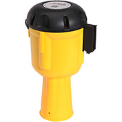 ConePro 600 Yellow Traffic Cone Mount Retracting Belt Barrier, 30' Authorized Access Only Belt