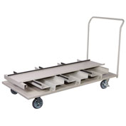 Vertical Stanchion Storage Cart, 18 Post Capacity, STCART18V