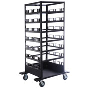 Horizontal Stanchion Storage Cart, 21 Post Capacity, STCART21H