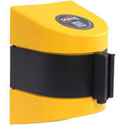 WallPro 450 Yellow Wall Mount Retracting Barrier, 20' Yellow/Black Striped Belt