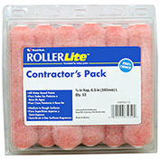 """RollerLite 6"""" x 1/2"""" Pink Polyester Mini Roller Cover, 12/Pack 6/Case - 6AP050-12"""