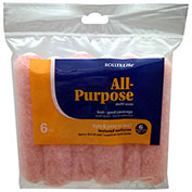 """RollerLite 6"""" x 1/2"""" Pink Polyester Mini Roller Cover, 6/Pack 12/Case - 6AP050-6"""