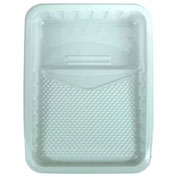 RollerLite White Plastic Liner Metal Paint Tray, 48/Case - WPT-48