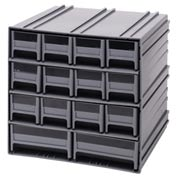 "Quantum Interlocking Storage Cabinet QIC-12123 - 11-3/4""Wx11-3/8""Dx11""H - 14 Gray Drawers"