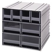 "Quantum Interlocking Storage Cabinet QIC-4244 - 11-3/4""Wx11-3/8""Dx11""H - 8 Gray Drawers"