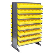 "Quantum QPRD-601 Double Sided Rack 24""x36""x60"" with 96 Yellow Euro Drawers"
