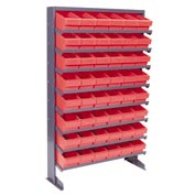 "Quantum QPRS-601 Single Sided Rack 12""x36""x60"" with 48 Red Euro Drawers"