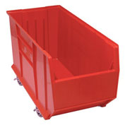 Quantum Mobile Hulk Plastic Stackable Storage Bin QUS998MOB 23-7/8 x 35-7/8 x 17-1/2 Red