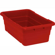 Cross Stack Nest Tote Tub TUB2516-8 -  25-1/8 x 16 x 8-1/2 Red - Pkg Qty 6