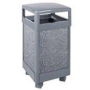 "Rubbermaid® FGR36HT Aspen 29 Gallon Hinged Top Garbage Can, Gray, 21"" Sq. x 40"" H"