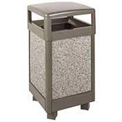 "Rubbermaid® FGR36HT 29 Gallon Hinged Top Garbage Can, Bronze/Gray, 21"" Sq. x 40"" H"