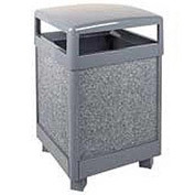 "Rubbermaid® FGR38HT Aspen 38 Gallon Hinged Top Garbage Can, Gray, 26"" Sq. x 40"" H"