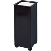 "Square Sand Top Urn, Black, 10""Sq x 24""H"