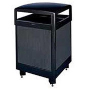"Rubbermaid® R48HT 48 Gallon Hinged Top Trash Container w/Perforated Panels, Black, 26""Sq x 40""H"