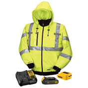 DeWalt® DCHJ070C1-2XL 20V/12V MAX* Heated High-Visibility 3-In-1 Hooded Jacket Kit - 2X