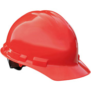 Radians® GHP4 Granite™ Cap Style Hard Hat, 4-Point Pinlock Suspension, Red