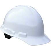 Radians® GHP4 Granite™ Cap Style Hard Hat, 4-Point Pinlock Suspension, White