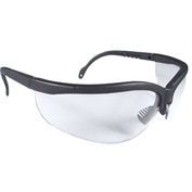 Radians® JR0111ID Journey™ Half Frame Safety Glasses, Clear Anti-Fog Lens, Black Frame - Pkg Qty 12
