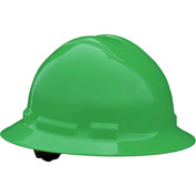 Radians® QHP4 Quartz™ Full Brim Hard Hat, 4-Point Pinlock Suspension, Green