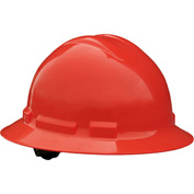 Radians® QHP4 Quartz™ Full Brim Hard Hat, 4-Point Pinlock Suspension, Red