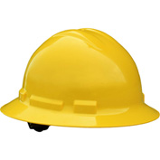 Radians® QHP4 Quartz™ Full Brim Hard Hat, 4-Point Pinlock Suspension, Yellow