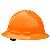 Radians QHP6 Quartz™ Full Brim Hard Hat, 6 Point Pinlock, Hi-Viz Orange